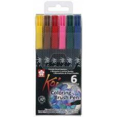 Caneta Brush 06 Cores  Koi Coloring