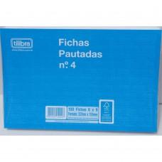 FICHA PAUTADA 6X9 100UN TILIBRA N4