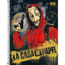 CADERNO 80 CD LA CASA DE PAPEL TILIBRA