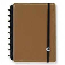 Caderno Inteligente 80f Medio Caramelo