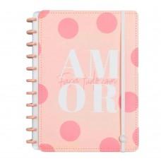 Caderno Inteligente 80F Grande Cor De Rosa