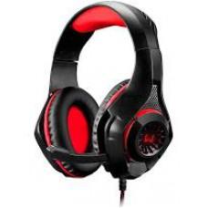 Headset Gamer Warrior Rama P3+USB Stereo Adaptador P2 LED Vermelho - PH219