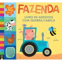Fazenda : Livro de adesivos com quebra-cabeça