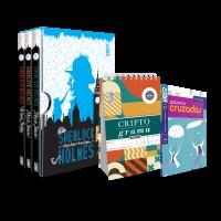 Kit Box Sherlock - A arte da dedução & Os casos perdidos + 2 livros Coquetel Passatempos