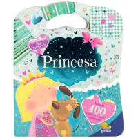 Pati patchwork - Bolsinha de adesivos: Princesa