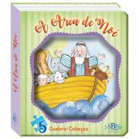 Janelinha lenticular bíblica com quebra-cabeças: Arca de Noé