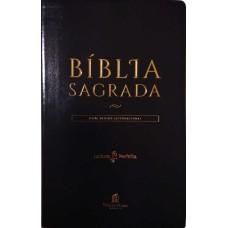 Bíblia NVI, Flexível, Imitação de Couro, Preto, Versão econômica