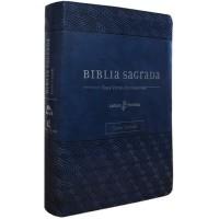Bíblia NVI, Couro Soft, Azul, Letra Grande, Com Espaço para Anotações, Leitura Perfeita
