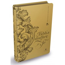 Bíblia da Mulher de Fé, NVI, Couro Soft, Dourado
