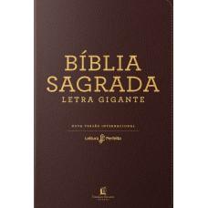 Bíblia NVI, Couro Soft, Marrom, Letra Gigante, Leitura Perfeita
