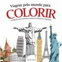 Viagem pelo mundo para colorir