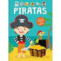 Piratas - livro de atividades com adesivos