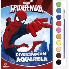 Diversão com aquarela Homem-Aranha